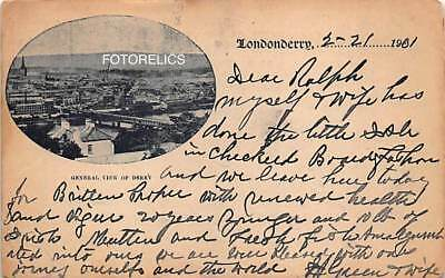 Londonderry, County Derry Northern Ireland - Early Card Posted in 1901