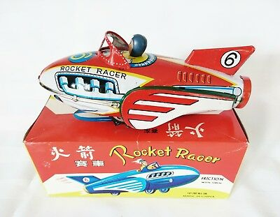 Tin Friction Toy Rocket Racer China