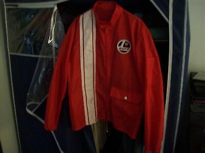 vintage clothing;snowmobile racing jacket, Southern Wisconsin snowmobile racing