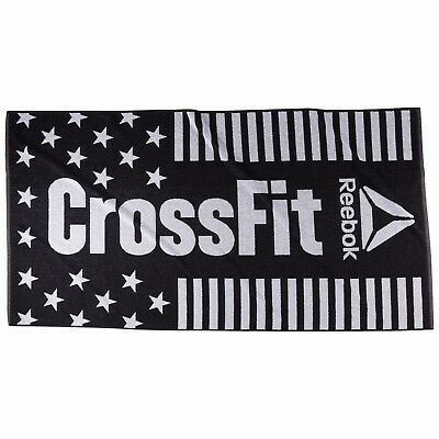 Reebok Large Black Crossfit Towel Gym Fitness Swimming Workout Towel