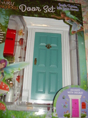 Fairy Kingdom BLUE Fairy Door set with accessories....NEW IN BOX
