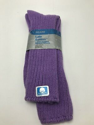 Sears Late Edition Socks Purple Cotton Ribbed NWT Vintage 1980s Mens