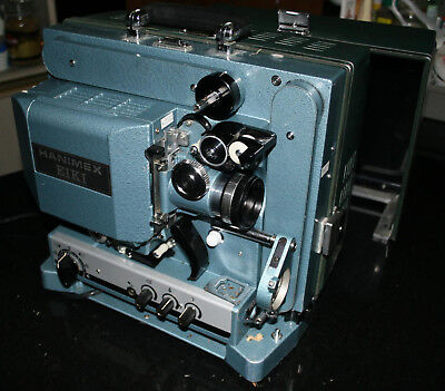 NICE EIKI RT-1 16mm PROJECTOR WITH WINDERS, SPLICER, SPOOLS, CINEMASCOPE LENS!
