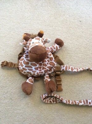Giraffe Toddler Backpack with Detachable Parent Lead Strap - Safety Harness Rein