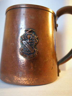 Vtg Phi Delta Theta South Dakota Alpha Chapter Coat of Arms Copper Handled Cup