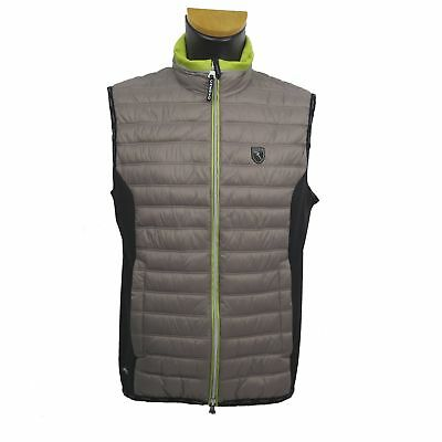 Chervo Golf Men's Vest Gilet ESTATHE Grey & Black 444 Size 50 NEW