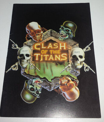 Megadeth; Slayer,Anthrax(clash of the titans) tour book/program 1990