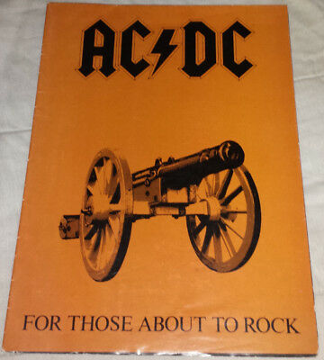 AC/DC: 1982 U.S. for those about to rock poster tour book/program complete