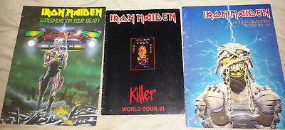 Iron Maiden: concert tour book/programs 1981/84/86 all complete