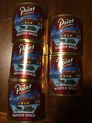 Lot Of 5 Vintage Stevens Point Brewery Winter Spice Labels