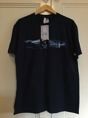 Bonds Mens Navy T Shirt New With Tags Sydney 2000 Olympics Size M