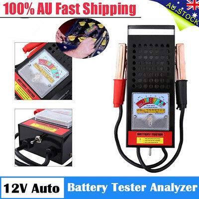 6V/12V 100Amp Car Van Auto Battery Load Tester Drop Charging System Kit AU POST