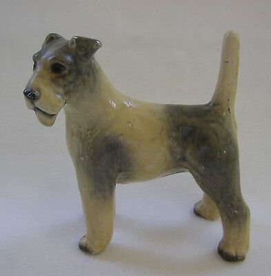Vintage Possible Mortens Studio Fox Terrier Dog Figurine ~ Very Old~Minor Issues