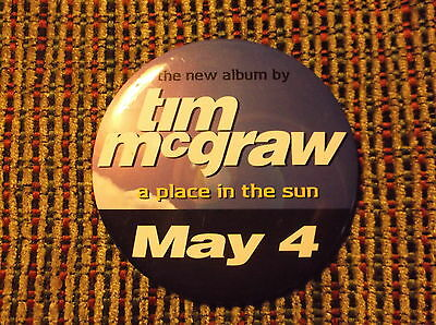 Tim Mcgraw A Place In The Sun Round Pin