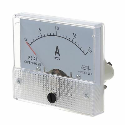 New 20A Analog Ampere Panel Meter Current Amp PK Y2Z2