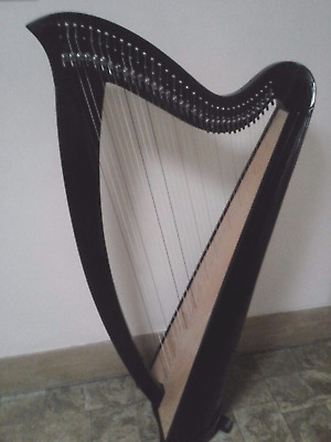 Lever-Harp-34-Strings-Black-with-Delux-Carry-Bag-in South Australia!