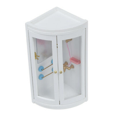 1:12 Childen Doll house Miniature Bathroom Furniture Shower Room PK U4Y8