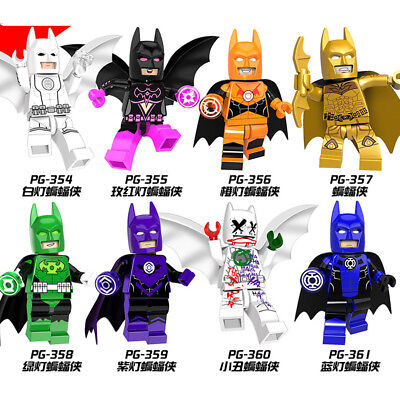 Marvel Super Heroes Block Batman Series Brick DIY Toy Children Gift 8pcs/lot