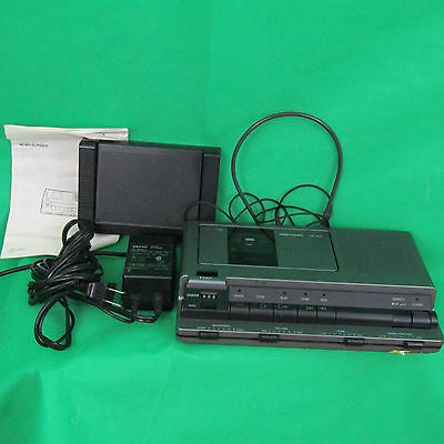 Sanyo TRC8080 Compact Transcriber Casette System Foot Control Headset Adapter