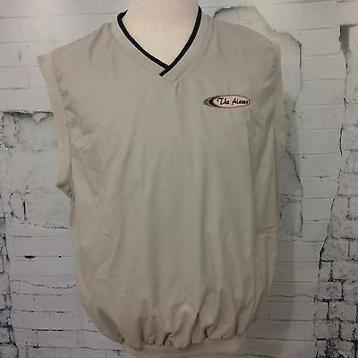"""CHARLES RIVER GOLF """"The Alamo"""" Men's Mid Weight Beige Pullover Vest (XL) VGC"""