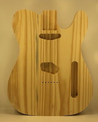 Pine Telecaster Style Electric Guitar Body Unfinished, #O03, Made in USA