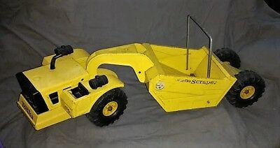 "TONKA MIGHTY SCRAPER vintage yellow 27"" long good used conditon"
