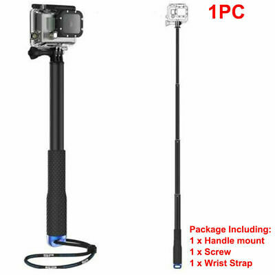 Waterproof Monopod Tripod Selfie Stick Pole Handheld FITS Gopro Hero 4 Camera US