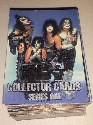 Kiss: series 1 coner stone 1997 complete 90 card set NEW silver foil