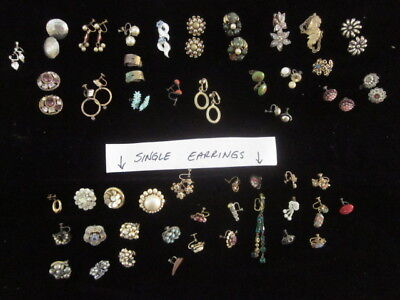 Vintage Lot of Jewelry clip and screw on earrings - Unique Lot - Crafts,Projects