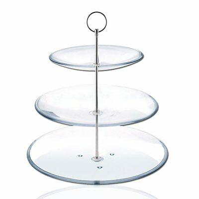 8 Sets 3 Tier Cake Plate Stand Handle Fittings silver for Tea Shop Room P2O Y2L7
