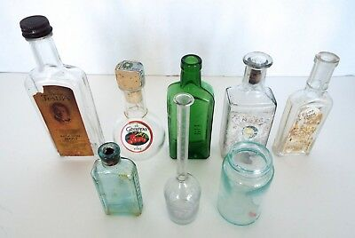 Glass Bottle Collection Foster's Maple 3 In 1 Oil Piso G'Zappa Primitive Lot