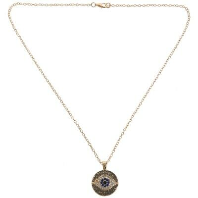 1PCS GOLD Fashion Women Jewelry Rhinestone Evil Eye Pendant Chain Necklace M3Q8