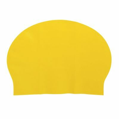Adult Soft Silicone Dome Shape Swimming Cap Hat Yellow PK S8P8