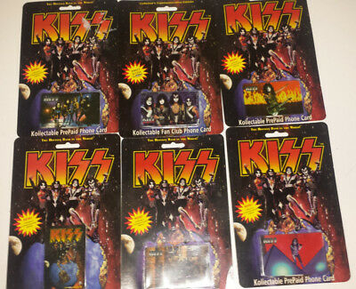 Kiss: set of 6 phone cards (new sealed) 1997