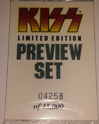 Kiss: cards 1997 preview set NEW SEALED # 04258 OF 15,000