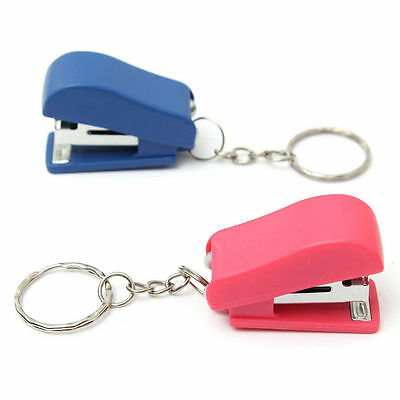2 X Keychain Mini Cute Stapler For Home Office School Paper Bookbinding Gift Fad
