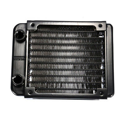 G1/4 90mm Aluminium Heat Radiator For PC CPU Water Cooling Heatsink Black P W3A7