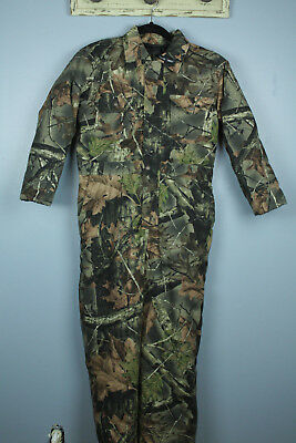 Trail Crest Highland Timber Youth Sz L Camo Hunting Coveralls Insulated Thermal