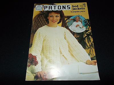 VINTAGE~PATONS KNITTING BOOK #520~BED JACKETS~8 LADIES DESIGNS~HUG-ME-TIGHT~70's