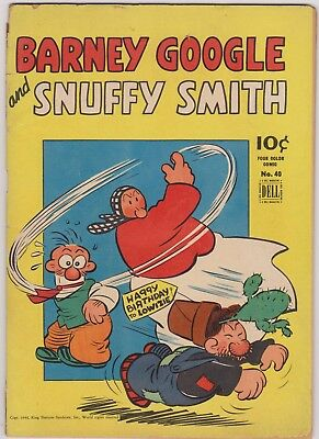 Barney Google and Snuffy Smith. Dell Four Color no.40 from 1944. Good range copy