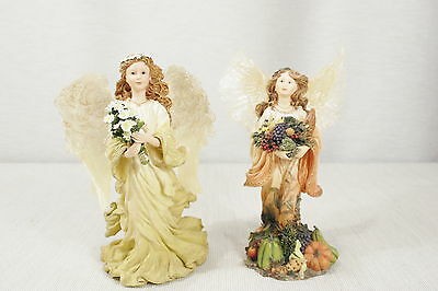 Boyds The Charming Angels Collection Amissa (Friendship)  and Aurelia (Harvest)