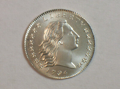 Gallery Mint Museum 1794 Flowing Hair Half Dime Copy GMM