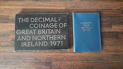 1971 Royal Mint Decimal Coinage Of GB & NI Proof Set + Britain's 1st Decimal