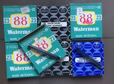 7 Anciennes Boîtes Cartouches Encre Waterman - Olds Boxes Ink Cartridges