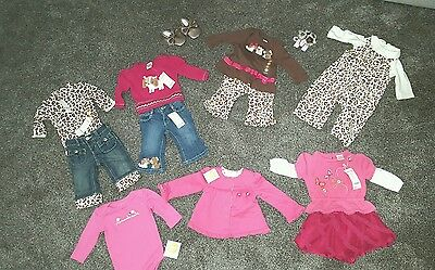 NWT Gymboree Parisian Leopard Dog Baby Girls SZ 3-6 M Complete Fall Winter Lot