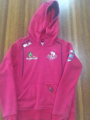kids QLD Reds Rugby Hoodie Size 6