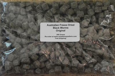 200 Gram Australian Freeze Dried Black Worm Cubes Aquarium Fish Food