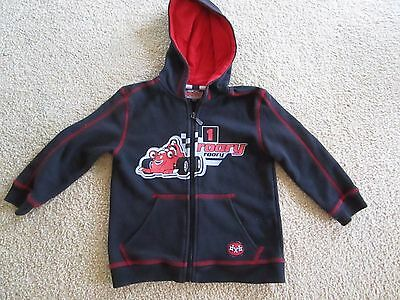 Boys Roary the Racing Car zip front hoodie  jacket   Size 4