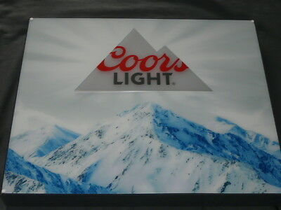 New Lighted COORS LIGHT Beer Sign, Switch to choose blue/white Coors Light Logo