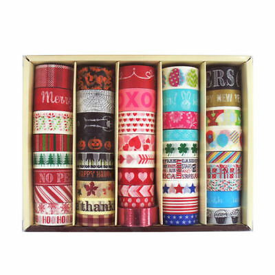 Seasonal Michaels Recollections BOX OF 45 Crafting Tape Washi Tape
